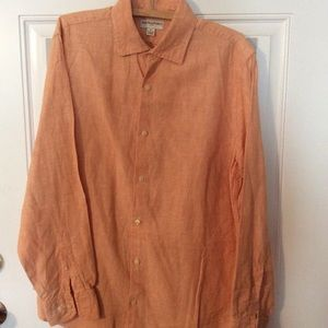 Banana Republic men's orange linen shirt